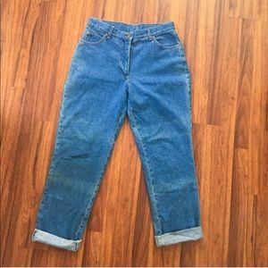 Vintage 1990s High Waisted Mom Jeans / Boyfriend